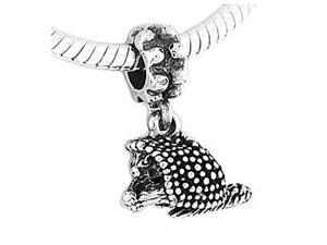 Sterling Silver Porcupine Dangle Bead Charm