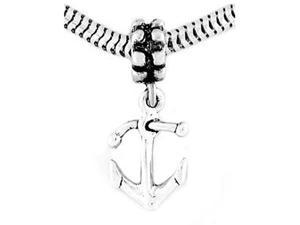 Sterling Silver Double Sided Faith Anchor Dangle Bead Charm