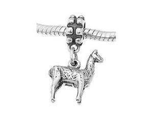 Sterling Silver Llama Dangle Bead Charm