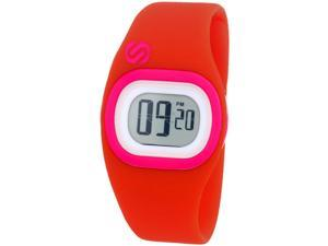 Soleus Tigress Digital Chronograp Silicone Strap Wrist Watch - Red