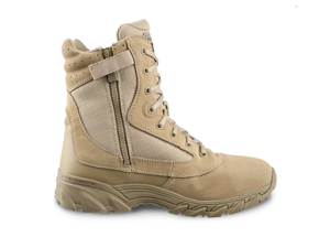 "Original Swat Chase 9"" Tactical Boots with Side Zipper -Tan- 11.5 Wide - 1312"