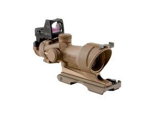 Trijicon Dark Earth RMR ACOG 4x32mm Tactical Riflescope Illum Amber XHR TA01ECOS
