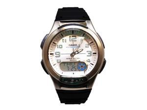 Casio Men's AQ-180W-7BV Analog-Digital Silicone Rubber Strap Watch w/ Back Light