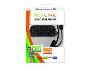 Microsoft Xbox 360 Live 12 Month Gold Starter Kit w/ Keyboard Pad & Headset