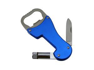 Dorcy 3-in-1 Multi-Tool - Bottle Opener, Knife & LED Flashlight - Blue