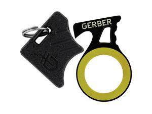 Gerber GDC Steel Hook Key Chain Ring 2-Inch Stainless Knife w/ Sheath 000637
