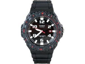 Casio Classic Diver-Look Solar Powered Analog Watch Grey w/ Red