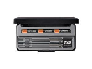 Maglite XL 200 LED High Power 172 Lumens Flashlight- GRAY- GIFT BOX - S3097