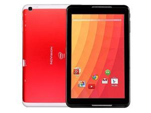 "Nuvision 8"" Atom Z3735G Quad-Core 1.33GHz 1GB 32GB Android 4.4 WiFi Tablet - Red"