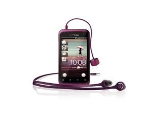 HTC Original Tangle Free Headphones 3.5mm with a Charm Call Indicator - Purple