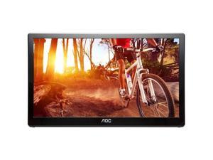 "AOC E1659FWU 16"" Portable LED Monitor, USB 3.0 Powered Ultra Slim 1366x768 Res 200 cd/m2 Brightness"