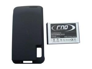 RND Power Solutions Extended High Capacity Lithium-Ion Battery (BH6X) + Back Cover for Motorola Atrix 4G