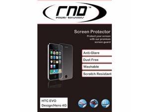 RND 3 Screen Protectors for HTC EVO Design 4G  Kingdom  Hero 4G (Anti-Fingerprint/Anti-Glare - Matte Finish) with lint cleaning ...