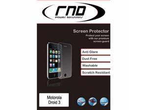 RND 3 Screen Protectors for Motorola Droid 3 (Anti-Fingerprint/Anti-Glare - Matte Finish) with lint cleaning cloths