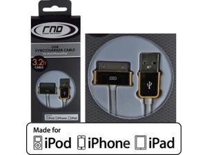 RND Apple CERTIFIED 30-Pin Cable for iPad  iPhone  iPod (3.2 Feet/Gold and White)