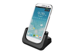 RND Dock for Samsung Galaxy Note 2 with Dock mode and Audio Out  (compatible without or with a case) (black)