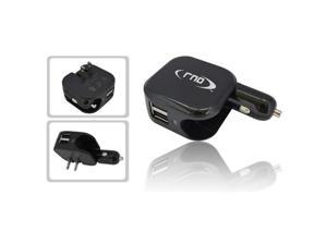 RND Dual Use Dual Port 2.1A USB Car Charger and Wall Charger (black)