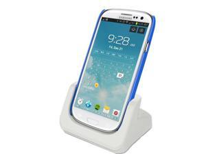 RND Dock for Samsung Galaxy S III (3) with Audio Out and Dock mode (compatible without or with a slim-fit case)