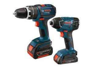 CLPK243-181 18V Cordless Lithium-Ion 1/2 in. Hammer Drill and Impact Driver Combo Kit
