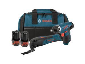 PS50-2C 12V Max Cordless Lithium-Ion 1/4 in. Drill Driver and Multi-Tool Combo Kit