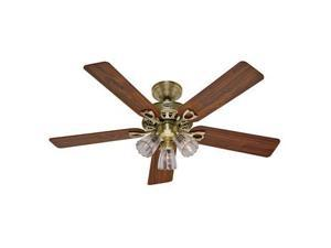 22435 The Sontera 52 in. Antique Brass Ceiling Fan with Light