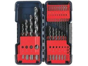 BL20 1/8 in. - 1/2 in. 20-Piece Black Oxide Drill Bit Set w/ Molded Case