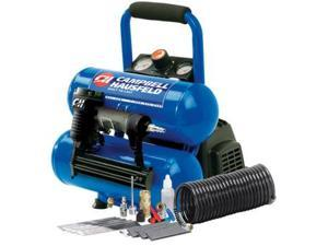 FP209599AV 1.0 HP 2 Gallon Oil-Free Twin Stack Air Compressor and 2-in-1 Brad Nailer/Stapler Kit