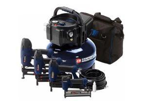 MW250096AV 0.8 HP 6 Gallon Oil-Free Pancake Air Compressor with Nailer and Stapler Kit