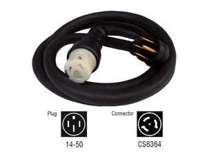 6330 50 Amp 10 ft. NEMA 1450 M/Locking CS6364 F Generator Power Cord