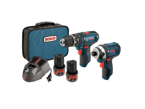 CLPK241-120 12V Max Cordless Lithium-Ion 3/8 in. Hammer Drill & Impact Driver Combo Kit