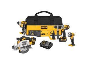 DEWALT DCK592L2 20V Max Premium 5-Tool Combo Kit