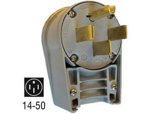 6332 50 Amp 125/250V Straight-Blade Plug (NEMA 14-50 M)