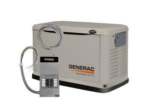 6237 Guardian Series 8 kW Air-Cooled Standby Generator with Steel Enclosure with 10 Circuit LC