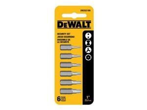 DWA1SEC6 6-Piece Security Bit Set