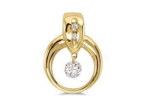 "14K Yellow Gold Dashing Diamonds Pendant with 18"" Chain"