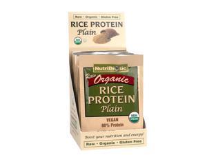 Nutribiotic Organic Rice Protein, Plain