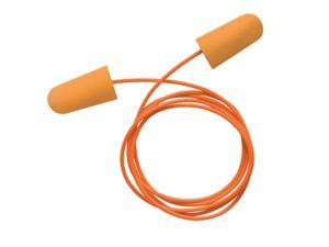 Single Use Tapered Orange Polyurethane And Foam Corded Earplugs (100 P...