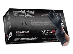 Microflex  Midknight Tm Nitrile Powder-Free Disposable Gloves - Medium Black...