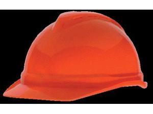MSA Hi-Viz Orange V-Gard Advance Class C Type I Polyethylene Vented Hard Cap