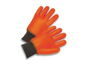 Pvc Jersey Lined Cold Weather Gloves - Large Orange - 1 Pair - 64056101
