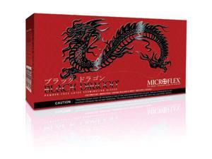 "Microflex X-Large Black 9 1/2"" Black Dragon Latex"