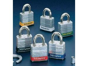 Master Lock Red #3 Laminated Steel Pin Tumbler Padlock - Keyed Differently