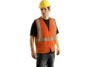Occunomix Hi Vis Class Ii Mesh Surveyor'S Safety Vest - 2X/3X Hi Viz Orange S...