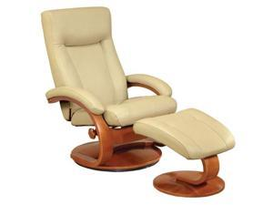 Mac Motion Cobblestone Leather-Swivel, Recliner with Ottoman
