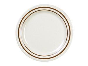 Excellante Winston Melamine Collection 6-1/4-Inch Round Bread Plate - Dozen