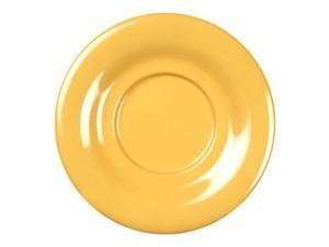 Excellante Yellow Melamine Collection 5-1/2-Inch Saucer, Yellow - Dozen