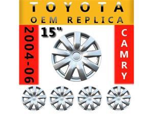"Set of 4 Wheel Covers Hubcaps 15"" Toyota Camry 2004-07 KT985"
