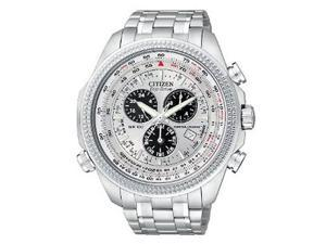 Citizen Men's Eco-Drive Chronograph Silver Dial Stainless Steel
