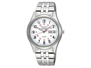 Seiko Stainless Steel White Dial Men's Watch #SNE045