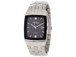 Caravelle Diamond Black Dial Men's Watch #43D101